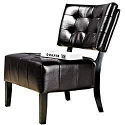 Abbyson Living Bentley Bonded Leather Dark Brown Armless Chair