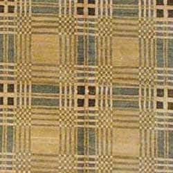 Tibetan Hand-knotted Beige/ Green Wool Rug (6' x 8'9) - Thumbnail 1