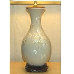 Ivory Ginko Porcelain Table Lamp