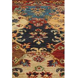 Hand-tufted Royal Garden Multicolor Floral Wool Rug (5' x 8') - Thumbnail 1