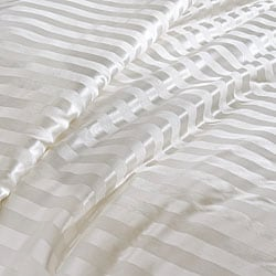 Chrysalife Silk-filled Stripe Jacquard Silk California King-size Comforter - Thumbnail 1