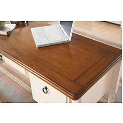 Broyhill Chestnut and Whitewash Writing Desk