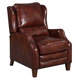 New Creations Ellison Red/ Brick Classic Recliner - Thumbnail 1