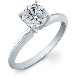 14k White Gold 3/4ct TDW Clarity-enhanced Diamond Solitaire Engagement Ring (G-H, SI2-SI3) - Thumbnail 1