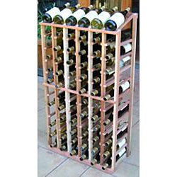 Redwood 72 Bottle Wine Display Rack - Thumbnail 1