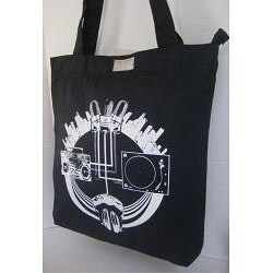 Black Canvas Sounds Of The City Tote Bag Free Shipping