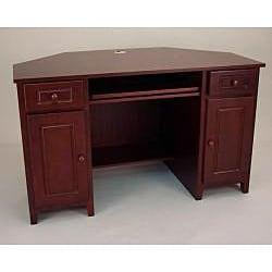 Mahogany Corner Computer Desk