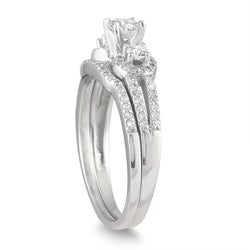 Marquee Jewels 10k White Gold 3/4ct TDW Diamond Bridal Ring Set (I-J, I1-I2) - Thumbnail 1