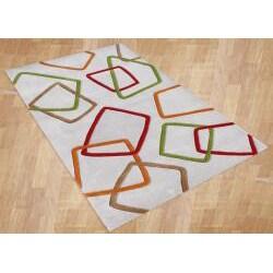 Alliyah Handmade New Zeeland Blend Grey Wool Rug (8' x 10') - Thumbnail 1