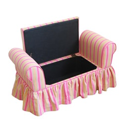 Decorative Storage Bench with Lift-off Lid