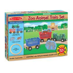 Melissa & Doug Zoo Animal Train Set - Thumbnail 1
