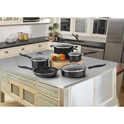 Cuisinart 55-9BK Black Advantage Nonstick 9-piece Cookware Set - Thumbnail 1