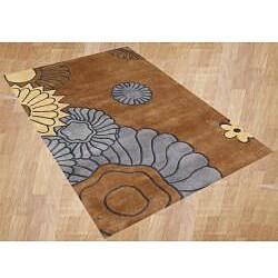 Alliyah Handmade Brown Sugar New Zealand Blend Wool Rug (8' x 10')