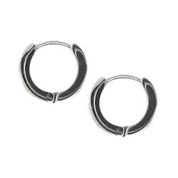 Stainless Steel Roman Numerals Mini-Hoop Earrings