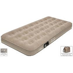 Pure Comfort Twin-size Low Profile Suede Top Air Bed
