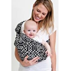 Balboa Baby Adjustable Sling in Black/White Geo