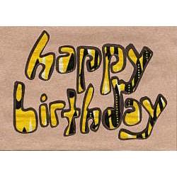 Global Handmade Hope Happy Birthday Kitenge Card (Pack of 4) Kenya