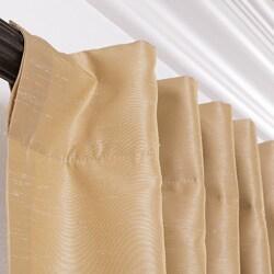 Exclusive Fabrics Brut Vintage Faux Textured Dupioni Silk 108-inch Curtain Panel - Thumbnail 1