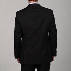 Ben Sherman Men's Slim Fit Wool Black 2-button Suit