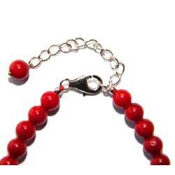 Pearlz Ocean Sterling Silver Red Coral Journey Bracelet