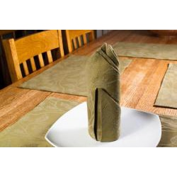 Floral Sage Green Placemat and Napkin 8pc Set - Thumbnail 1