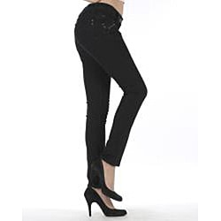 MDZ Women's 'Olivia' Black Skinny Denim Jeans - Thumbnail 1