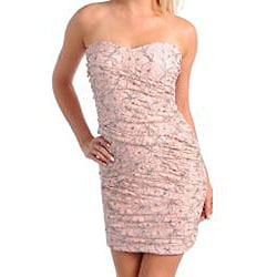 Stanzino Women's Pink/ Silver Mini Dress