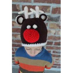 WhooHat Children's Reindeer Crochet Hat - Thumbnail 1