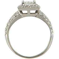 14k Gold 1 1/6ct TDW Certified Clarity-Enhanced Diamond Engagement Ring (G-H, SI2)