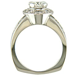 18k White Gold 2 1/3ct TDW Certified Clarity-Enhanced Round Diamond Engagement Ring (G-H,SI1 )