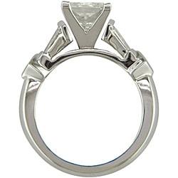 14k White Gold 2 1/2ct TDW Certified Clarity-Enhanced Diamond Engagement Ring (H-I,SI2) - Thumbnail 1