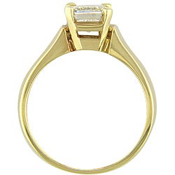 14k Gold 1 1/2ct TDW Certified Clarity-enhanced Diamond Engagement Ring (H-I, SI2) - Thumbnail 1