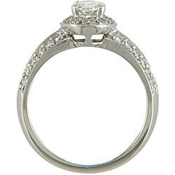 14k White Gold 1 1/10ct TDW Certified Clarity-Enhanced Diamond Engagement Ring (J-K,SI1 ) - Thumbnail 1