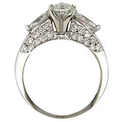 14k White Gold 1 7/8ct TDW Certified Clarity-Enhanced Diamond Engagement Ring (I-J,VS2 ) - Thumbnail 1
