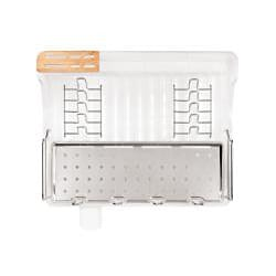 simplehuman Clear Open Frame Dishrack with Bamboo Knife Block - Thumbnail 1