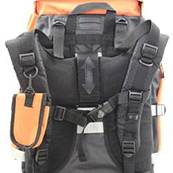Kemyer 5500 Cubic Inches Deluxe Hiking Backpack - Black/Orange - Thumbnail 1