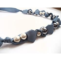 Pretty LIttle Style Blue Faux Pearl Adjustable Necklace - Thumbnail 1