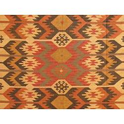 Indo Tribal Kilim Wool Rug (8' x 10')