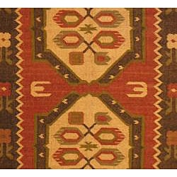 Indo Tribal Kilim Wool Rug (4' x 6') - Thumbnail 1