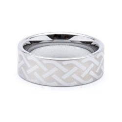 Men's Tungsten Celtic Laser-etched Ring (8 mm) - Thumbnail 1