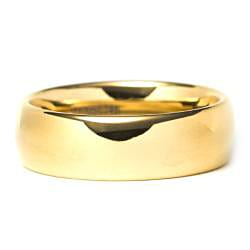 Men's Tungsten Carbide Gold Domed Ring - Thumbnail 1