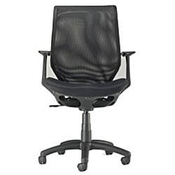 Ergonomic Black Mesh Office Chair - Thumbnail 1