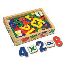 Melissa & Doug Magnetic Wooden Numbers - Thumbnail 1