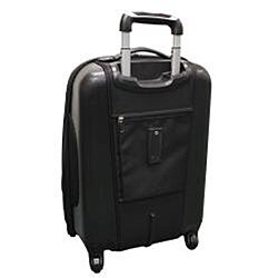 Black Olympia Dallas 21-inch Expandable Hybrid Carry-on Upright - Thumbnail 1