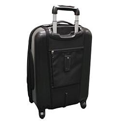 Black Olympia Dallas 21-inch Expandable Hybrid Carry-on Upright