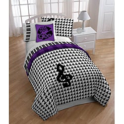 Glee 'Mercedes' Full-size 8-piece Reversible Bed in a Bag with Sheet Set - Thumbnail 1