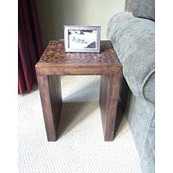 Handmade Coconut Shell End Table (Thailand) - Thumbnail 1