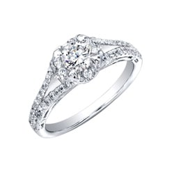 14k White Gold 1ct TDW Diamond Engagement Ring (H-I, I2-I3) - Thumbnail 1