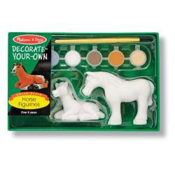 Melissa & Doug Decorate-Your-Own Horse Figurines - Thumbnail 1