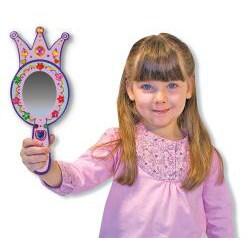 Melissa & Doug DYO Wooden Princess Mirror - Thumbnail 1